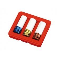 """3PC 1/2""""Dr. Rim Wheel Nut Thin Wall Impact Socket Set (MM)"""
