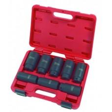 """8PC 1/2""""Dr. Deep 12pt Axle/Spindle Nut Socket Set (MM)"""