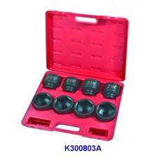 "8PC 3/4""Dr. Hi-viz Impact Add-on Socket Set (SAE)"