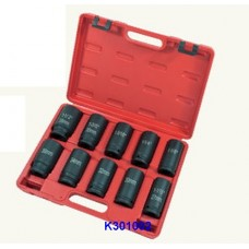 "10PC 3/4""Dr. Deep Duometric Impact Socket Set"