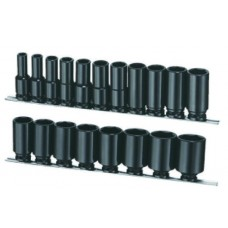 "19PC 1/2""Dr. Deep Impact Socket Set (SAE)"
