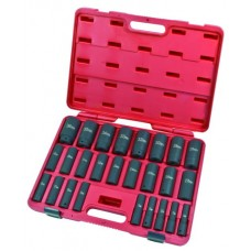 "26PC 1/2""Dr. Deep Impact Socket Set (MM)"