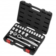 "24PCS 22H (1/2""DR.) ACT INSERT-SNAP WRENCH  & SUPER SHORT SOCKET SET (MM)"