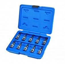 "10PC 3/8"" DR. 5-POINT TAMPER TX-PLUS BIT SOCKET SET"
